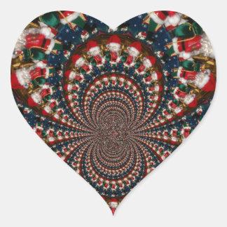 GIF retro colorido de Navidad de los regalos de Pegatina En Forma De Corazón