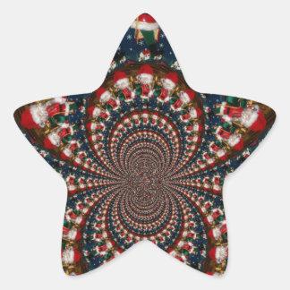 GIF retro colorido de Navidad de los regalos de Pegatina En Forma De Estrella