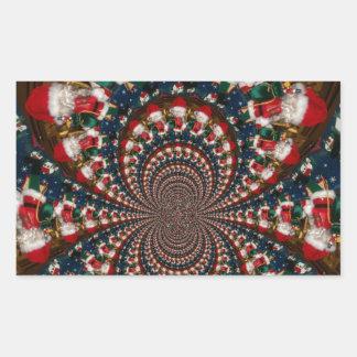 GIF retro colorido de Navidad de los regalos de Pegatina Rectangular