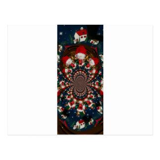 GIF retro colorido de Navidad de los regalos de Postal