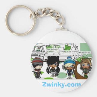 GIF, Zwinky.com Basic Round Button Keychain