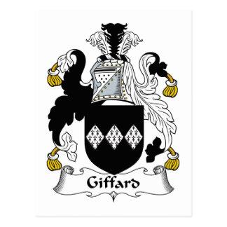 Giffard Family Crest Postcard