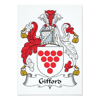 "Gifford Family Crest 5"" X 7"" Invitation Card"