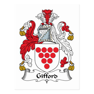 Gifford Family Crest Postcard