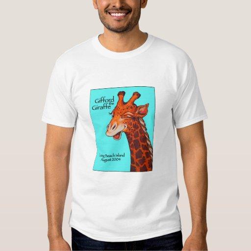 Gifford la camiseta de la jirafa poleras