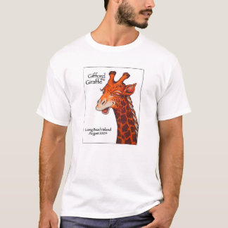 Gifford the Giraffe with white background T-Shirt