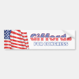 Giffords for Congress Patriotic American Flag Desi Car Bumper Sticker