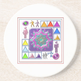 Gift a Purple Star -  Wear One yourself Drink Coaster