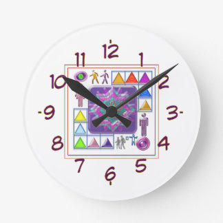 Gift a Purple Star -  Wear One yourself Round Clock