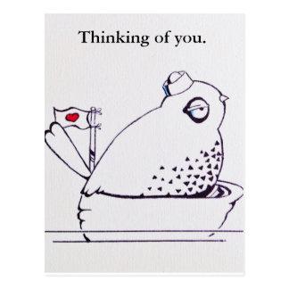 gift a sailor bird thinking of you postcard