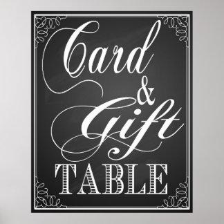 Gift and card Table wedding sign blackboard