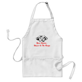 Gift Apron Lady Your Opinion Wasn't In The Recipe