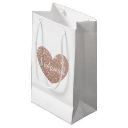 Gift Bag - Heart Fab bridesmaid Rose Gold