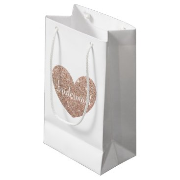 Valentines Themed Gift Bag - Heart Fab bridesmaid Rose Gold