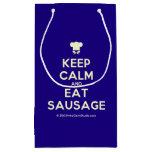 [Chef hat] keep calm and eat sausage  Gift Bag Small Gift Bag