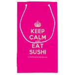 [Crown] keep calm and eat sushi  Gift Bag Small Gift Bag