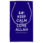 [No Crown] keep calm and love allah  Gift Bag Small Gift Bag