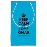 [Crown] keep calm and love omar  Gift Bag Small Gift Bag