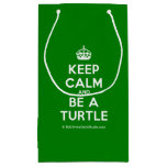 [Crown] keep calm and be a turtle  Gift Bag Small Gift Bag