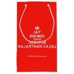 [Crown] jat' bishnoi chadi jodhpur rajasthan-342312  Gift Bag Small Gift Bag