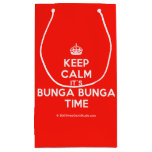 [Crown] keep calm it's bunga bunga time  Gift Bag Small Gift Bag