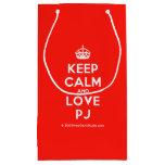 [Crown] keep calm and love pj  Gift Bag Small Gift Bag