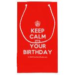 [Cupcake] keep calm its your birthday  Gift Bag Small Gift Bag