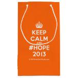 [Crown] keep calm and #hope 2013  Gift Bag Small Gift Bag