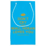 [Two hearts] don't cry coz niall horan loves you  Gift Bag Small Gift Bag