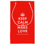 [Crown] keep calm and make lovr  Gift Bag Small Gift Bag