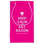 [Chef hat] keep calm and eat bacon  Gift Bag Small Gift Bag