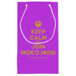 [Smile] keep calm and join moko.mobi  Gift Bag Small Gift Bag