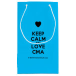 [Love heart] keep calm and love cma  Gift Bag Small Gift Bag