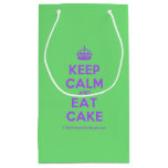 [Crown] keep calm and eat cake  Gift Bag Small Gift Bag
