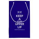 [UK Flag] keep a stiff upper lip  Gift Bag Small Gift Bag