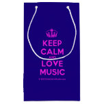 [Dancing crown] keep calm and love music  Gift Bag Small Gift Bag