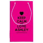 [Love heart] keep calm and love ashley  Gift Bag Small Gift Bag