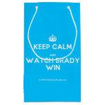[Crown] keep calm and watch brady win  Gift Bag Small Gift Bag