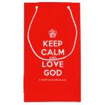 [Cupcake] keep calm and love god  Gift Bag Small Gift Bag