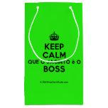 [Crown] keep calm que o jacinto é o boss  Gift Bag Small Gift Bag