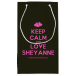 [Two hearts] keep calm and love sheyanne  Gift Bag Small Gift Bag