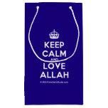 [Crown] keep calm and love allah  Gift Bag Small Gift Bag