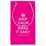 [Crown] keep calm and make it easy  Gift Bag Small Gift Bag
