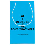 [Two hearts] i #love b5 hot tall boys that melt  Gift Bag Small Gift Bag