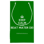 [Crown] keep calm and beat mater dei  Gift Bag Small Gift Bag