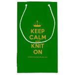 [Knitting crown] keep calm and knit on  Gift Bag Small Gift Bag