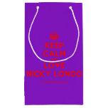 [Crown] keep calm and love nicky longo  Gift Bag Small Gift Bag