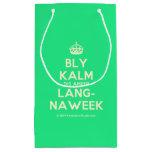 [Crown] bly kalm dis amper lang- naweek  Gift Bag Small Gift Bag
