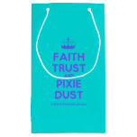 [Knitting crown] faith trust and pixie dust  Gift Bag Small Gift Bag
