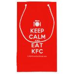 [Cutlery and plate] keep calm and eat kfc  Gift Bag Small Gift Bag